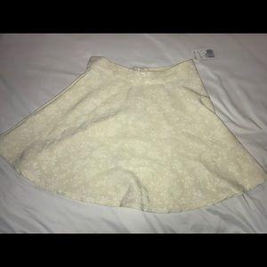 Forever 21 Skirts - White Floral Embroidered Circle Skirt